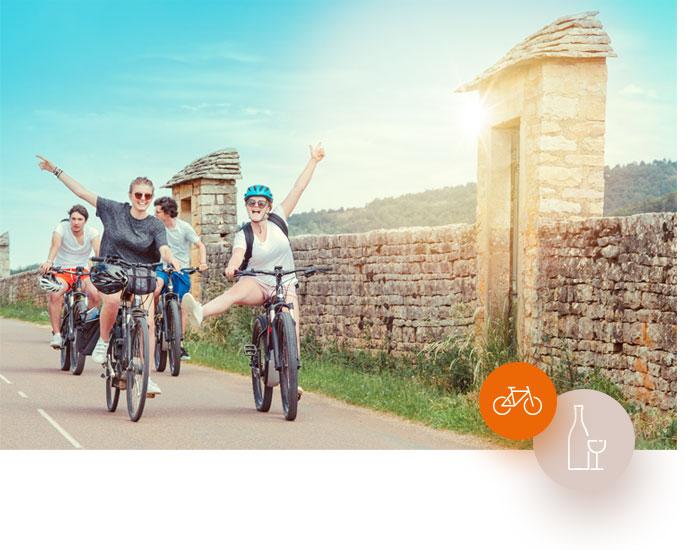 Circuit vélo et dégustation de vins à Beaune